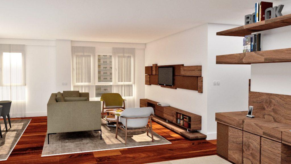 Arquitectura de interiores, reforma de piso en Gijon, interiorismo, decoración y obra