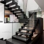 Interiorismo, escalera de una vivienda unifamiliar Gijon Cabueñes 09