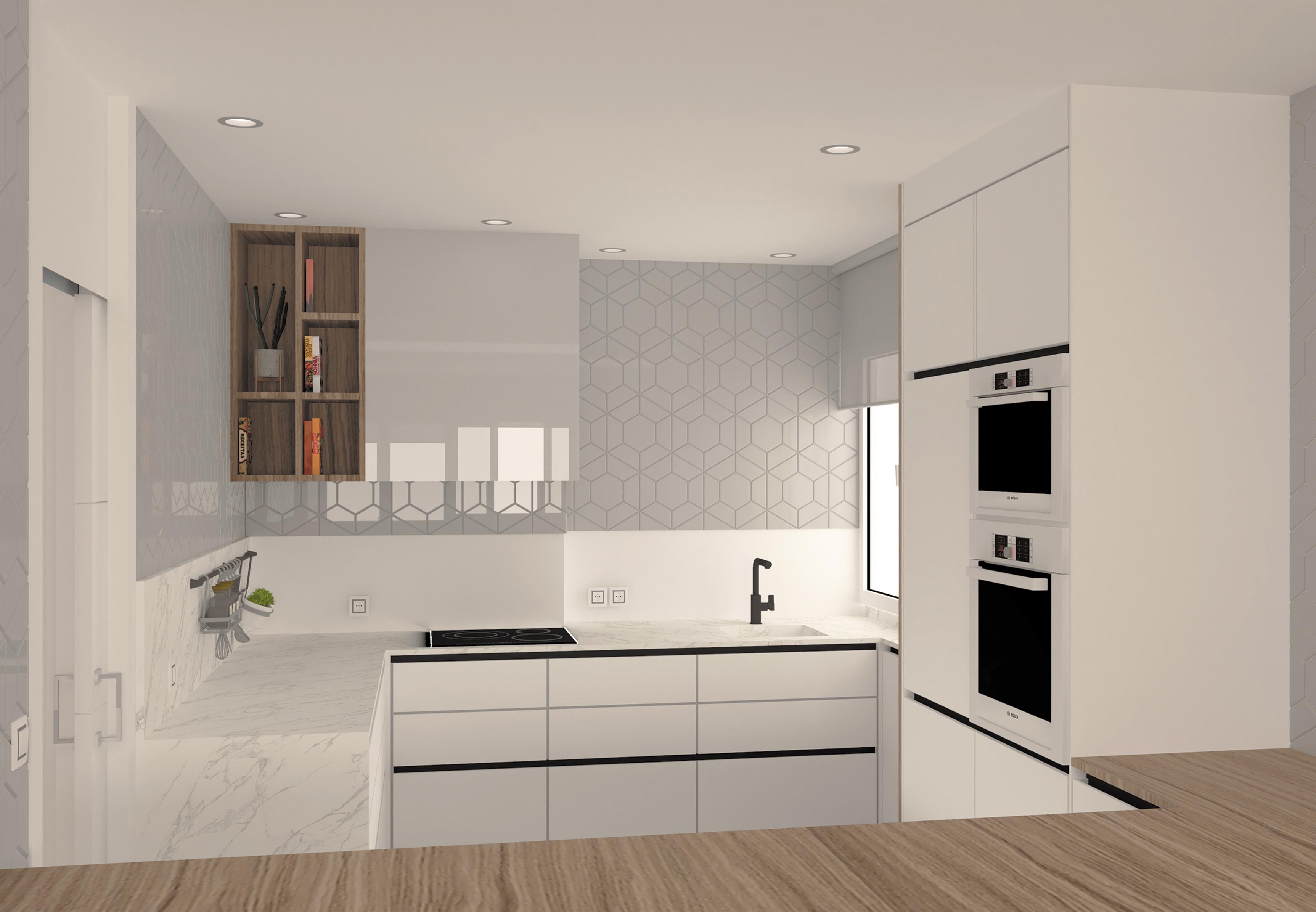 Reforma de una cocina para un piso en Gijón
