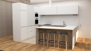 Proyecto de obra nueva para cocina en una vivienda unifamiliar