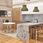 Proyecto de cocina para una vivienda unifamiliar en Gijón. Asturias
