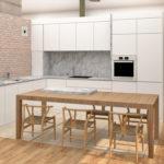 Diseño y propuesta de cocina para una vivienda unifamiliar.