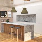 Proyecto del diseño de una cocina con barra