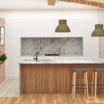 Proyecto del diseño para obra nueva, cocina en Gijon