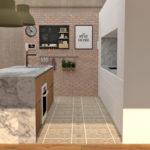 detalle del proyecto de la cocina en la vivienda en Gijón