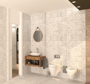 Proyecto, diseño de baño para vivienda unifamiliar en Gijón