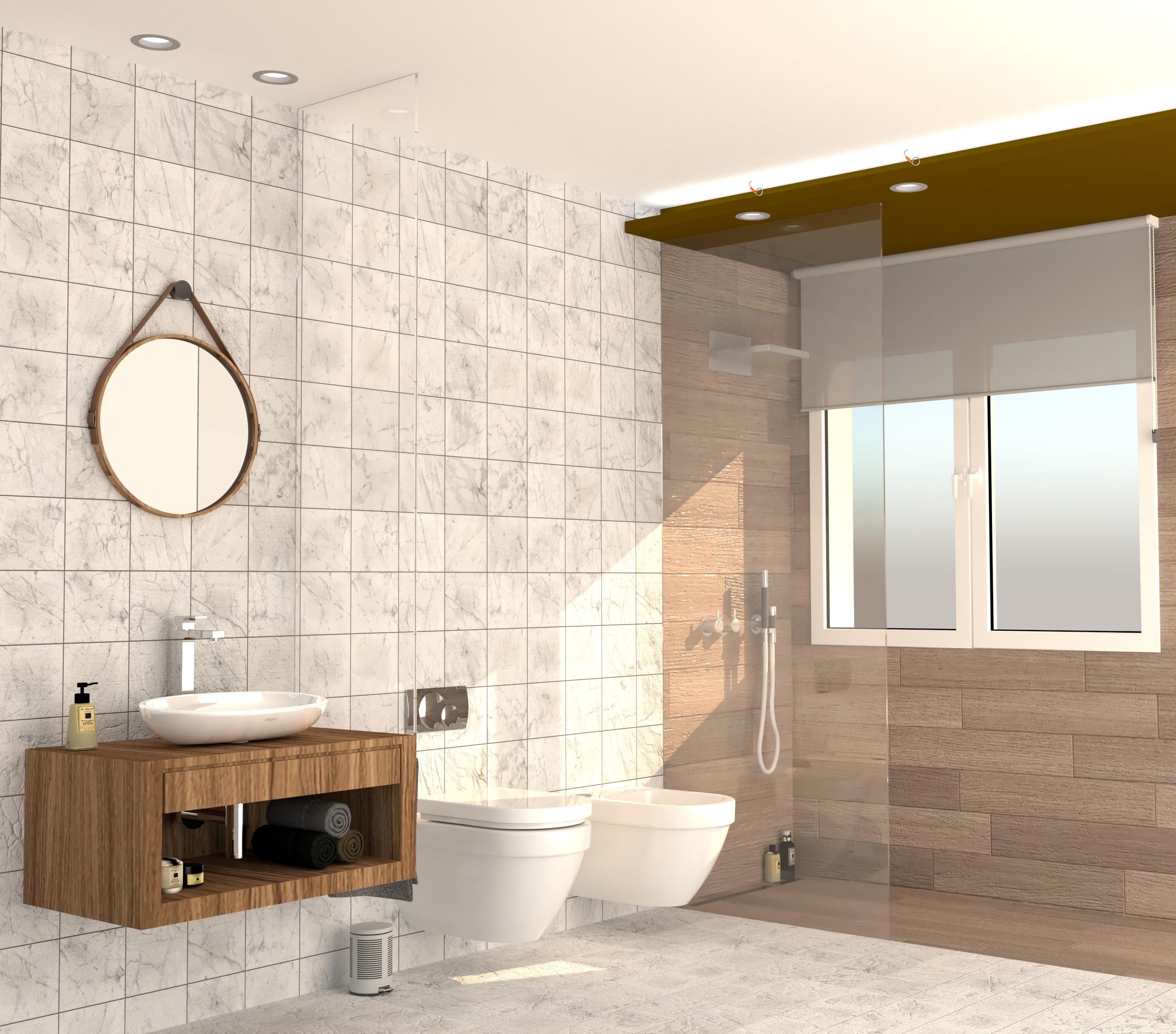 Proyecto del diseño y realización de obra de baño.