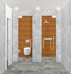Proyecto de diseño y reforma del baño en un piso de Gijón