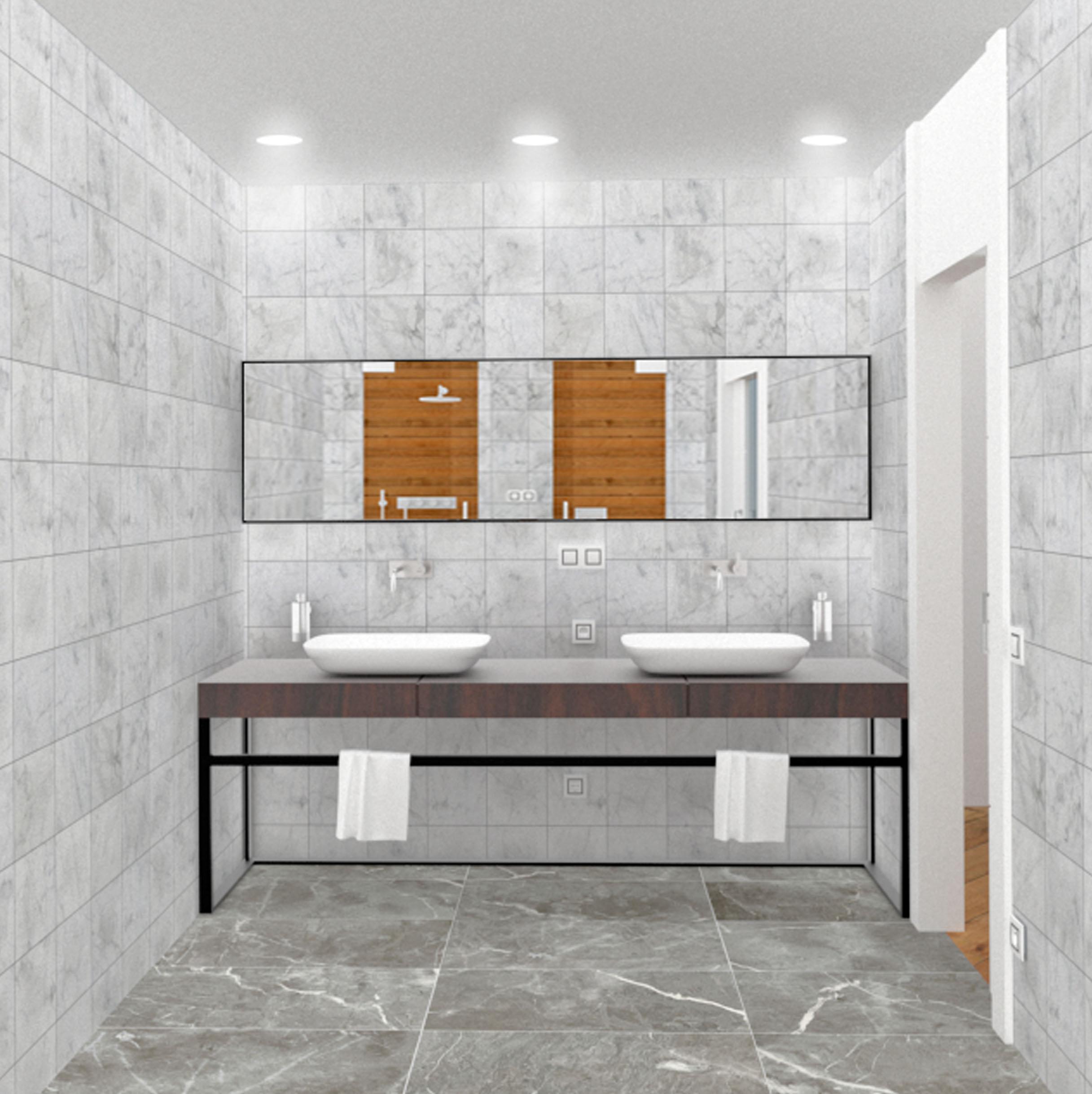 Proyecto de diseño para la reforma de un baño en un piso en Gijón