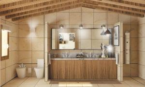 Baño de una vivienda unifamiliar en Gijón. Proyecto