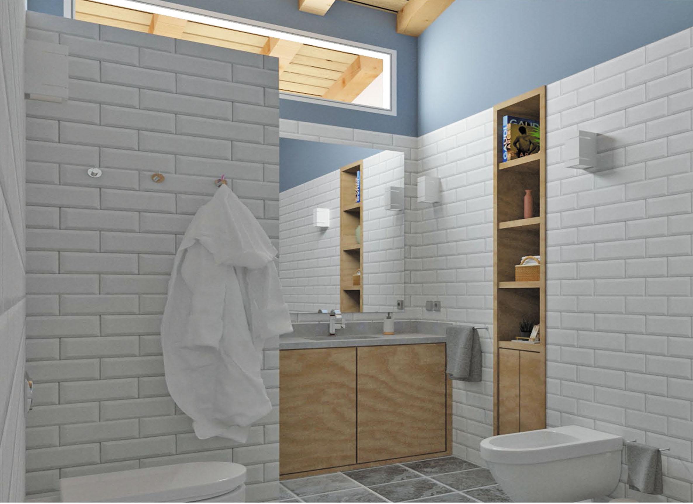 Proyecto del diseño del baño para una vivienda unifamiliar en Gijón
