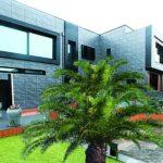 Diseño de la fachada exterior de una vivienda unifamiliar en Salinas