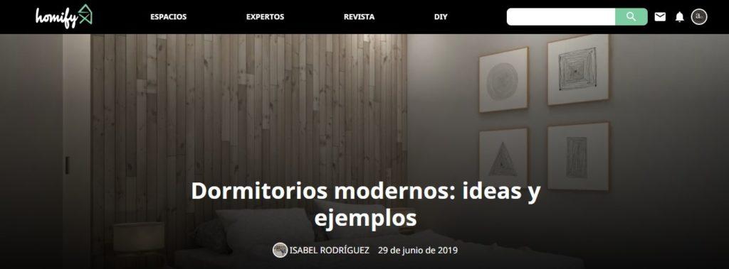 Articulo de arQmonia estudio en el magazine de Homify sobre dormitorios modernos