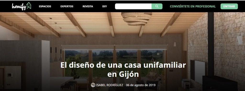 Diseño de una casa unifamiliar en Gijon. Articulo en Homify