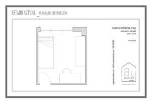 Distribución actual del dormitorio