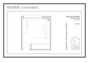 Nueva distribución del dormitorio
