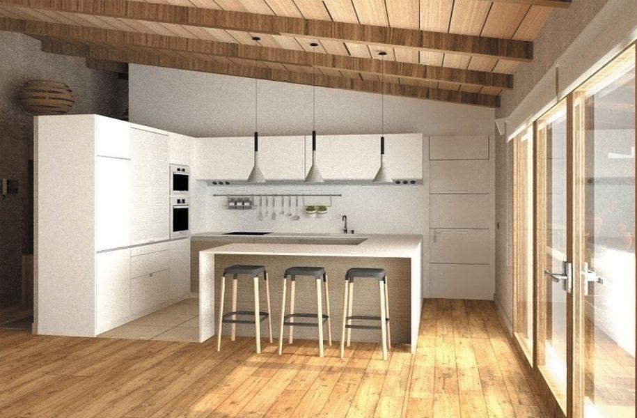 Proyecto del diseño de una cocina en un avivienda unifamiliar en Gijon