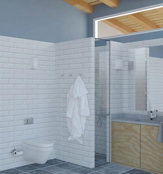 Proyecto de diseño del baño en una vivienda unifamiliar en Gijon